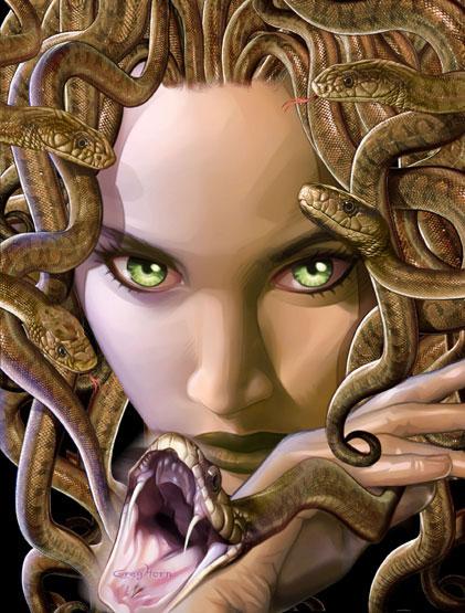 hablemos de criaturas mitologicas! Greg-horn-medusa
